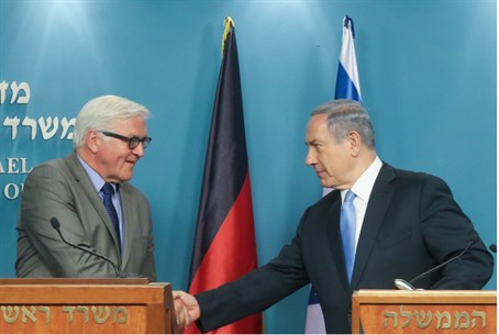 Steinmeier and Netanyahu shake hands