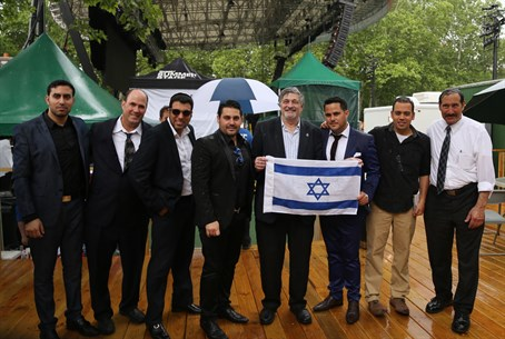 Organizers and singers at Israel Day Concert