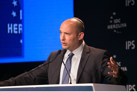 Education Minister Naftali Bennett at IDC Herzliya