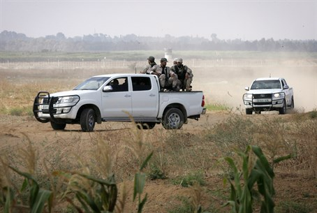 Hamas patrols newly paved attack road