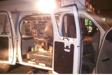The ambulance that was attacked