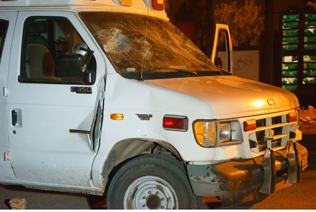 Attacked IDF ambulance