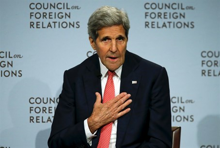 Secretary of State John Kerry speaks at the Council on Foreign Relations
