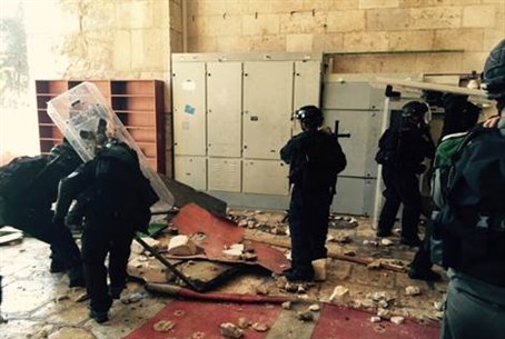 Israel Police on Temple Mount