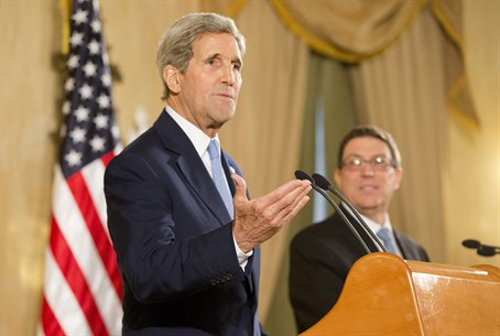 Kerry and Cuba's Foreign Minister Bruno Rodriguez hold news conference in Havana