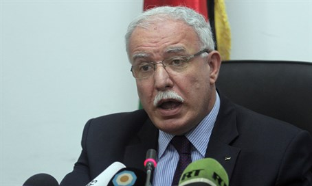 Palestinian Authority foreign minister Riad al-Malki