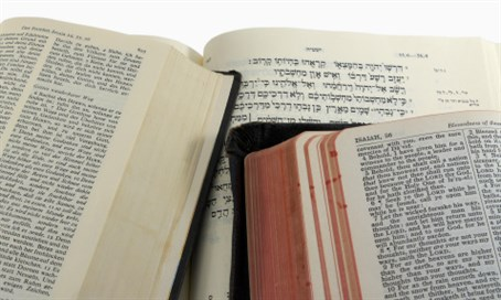 Book of Isaiah Bible passage in three languages
