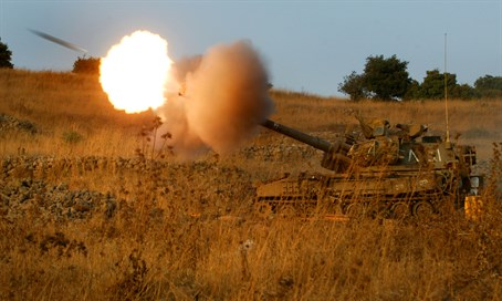 IDF artillery fire (illustration)