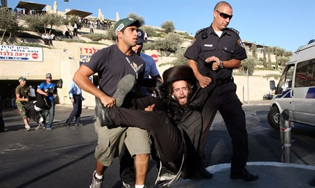 Haredi protester in Jerusalem (illustration)