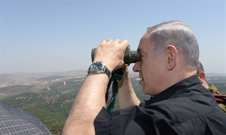 Binyamin Netanyahu in northern Israel