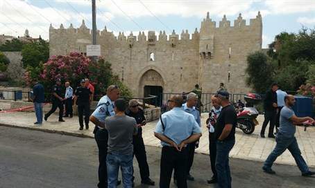 Damascus Gate after attack (file)