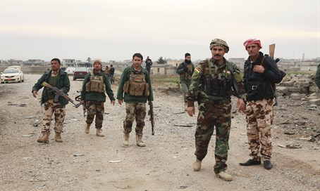 Kurdish Peshmerga fighters in northern Iraq