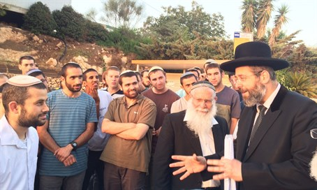 Rabbi Lau at Elon Moreh Yeshiva
