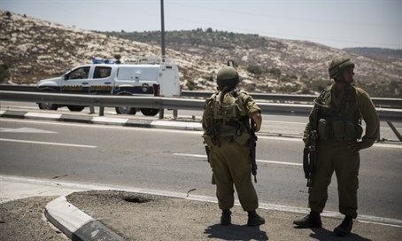 IDF soldiers along Highway 443