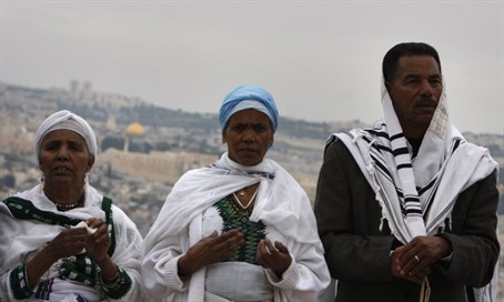 Ethiopian Jews in Jerusalem (illustration)