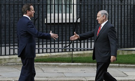 Netanyahu and Cameron (archive)