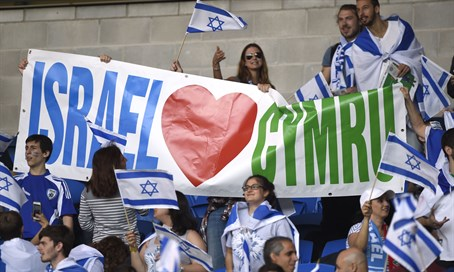 Support for Israel at Cardiff Stadium