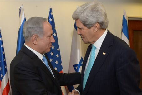 Netanyahu meets Kerry in Jerusalem on March 3