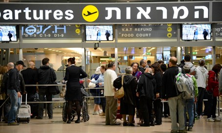 Departure gate at Ben-Gurion airport