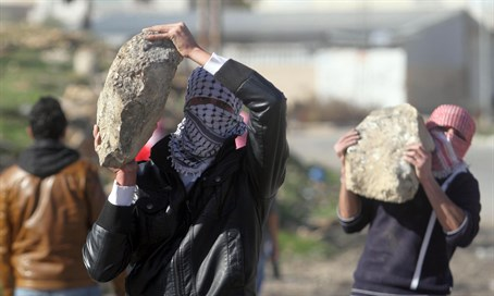 Arab rock throwing terrorists (file)
