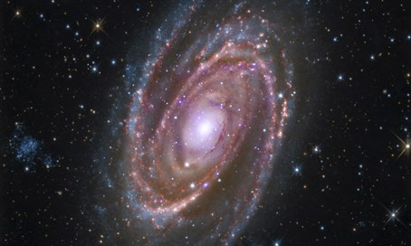Spiral Galaxy M81, located about 12 million light years away from earth