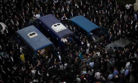 Funeral of Har Nof victims (file)