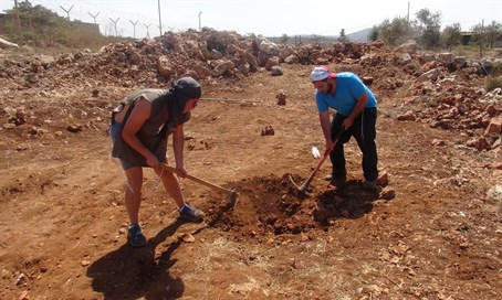 Planting trees in the Shomron home of David Ha'ivri