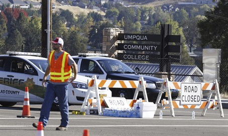Site of a shooting at college in Oregon