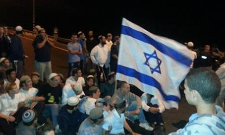 Residents of Judea and Samaria protest shooting attack