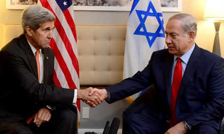 Kerry and Netanyahu meet in New York, October 2, 2015