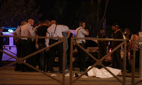 Police stand by body of terrorist who carried out stabbing attack