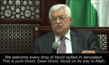 Mahmoud Abbas incites Temple Mount violence