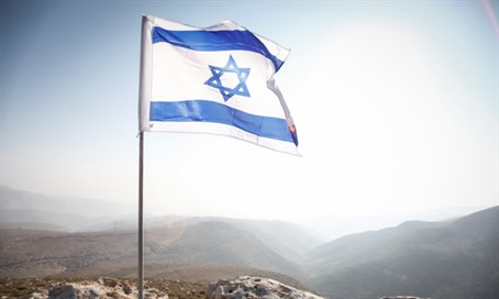 Israeli flag in Jordan Valley