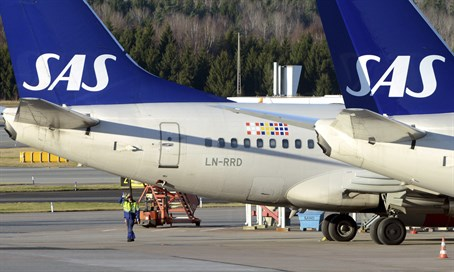 Scandinavian Airlines airplane