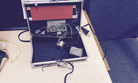 Ahmed Mohamed's homemade clock which was mistaken for a bomb