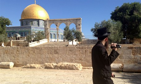 Jewish visitor on the Temple Mount (file)