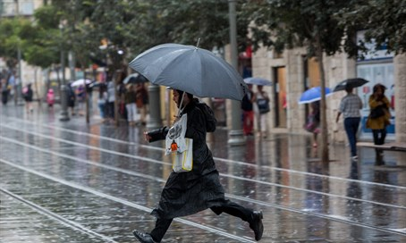 Rain in Jerusalem (file)
