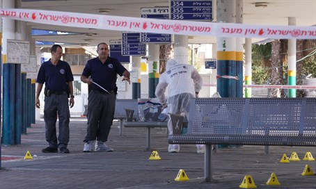 Afula central station after stabbing attempt (file)