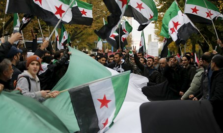Syrian opposition flags in Germany (file)