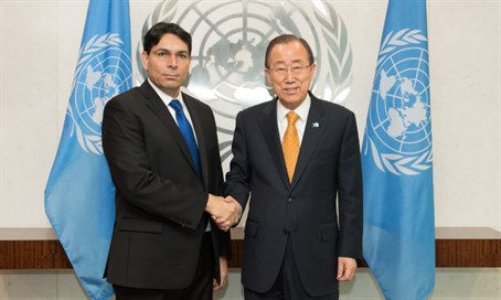 Danny Danon and Ban Ki-moon