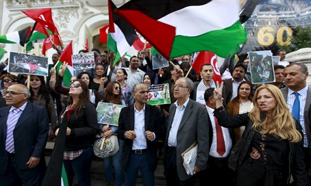 Pro-Palestinian demonstration in Tunis (archive)