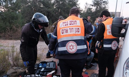 Scene of Gush Etzion attack