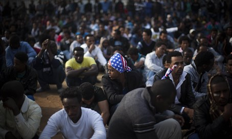 Illegal African immigrants in Israel (file)