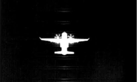 Thermal image of airbus from the ground