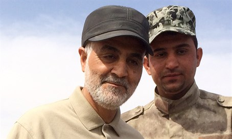 Qassem Soleimani visits front line with ISIS in Iraq