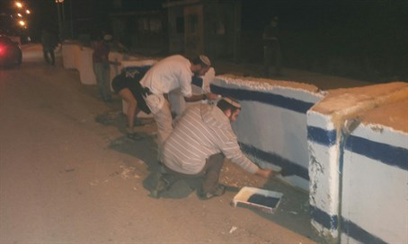 Painting the security barriers