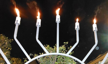 Hanukkah Menorah in Jerusalem (file)