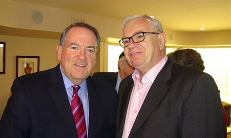 Gov. Mike Huckabee (L) with Rubin Margules