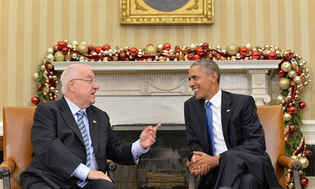 Rivlin and Obama meet at the White House