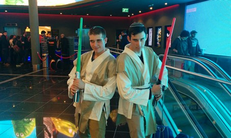 Israeli Star Wars fans at the first screening of The Force Awakens in Jerusalem